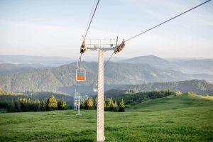 Катание на лыжах в Карпатах